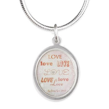 Love Light Silver Oval Necklace