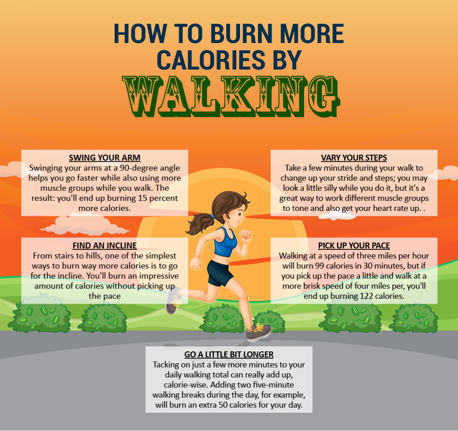 5 Ways To Burn Calories Faster | Visual.ly