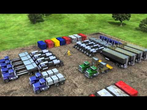 3D Animation Onshore Gasoline Drilling