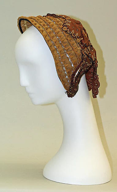 "Straw ""promenade bonnet"" c. 1866 from The Met"