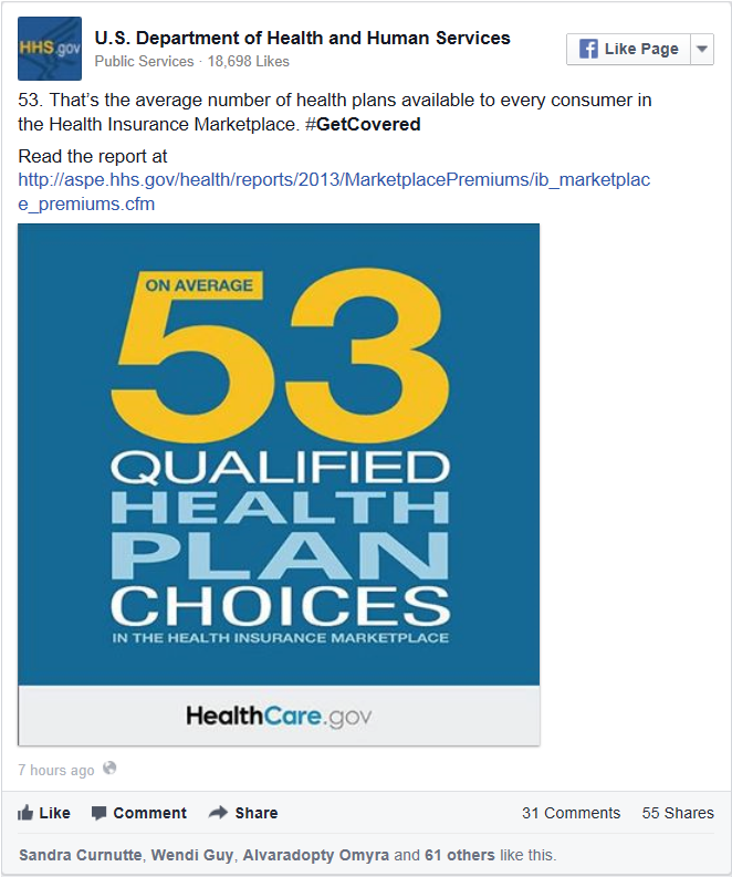 Infographic: On Average, 53 Qualified Health Plan Choices in the Health Insurance Marketplace