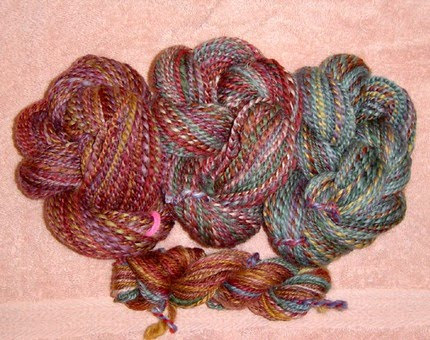 photo of hand-spun yarn