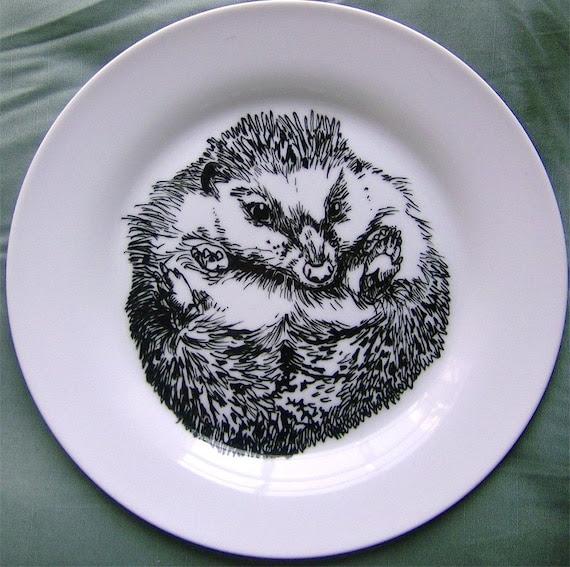 Plate - Hand Drawn Hedgehog Side-plate