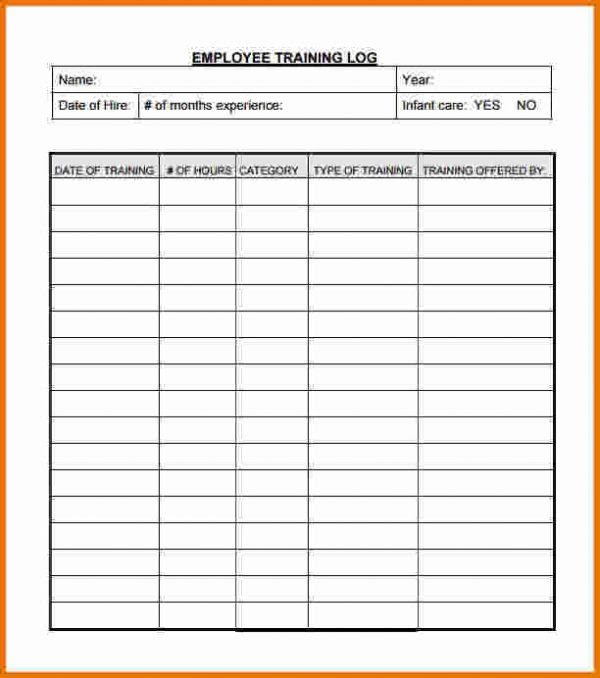 On The Job Training Record Template Pdf Template