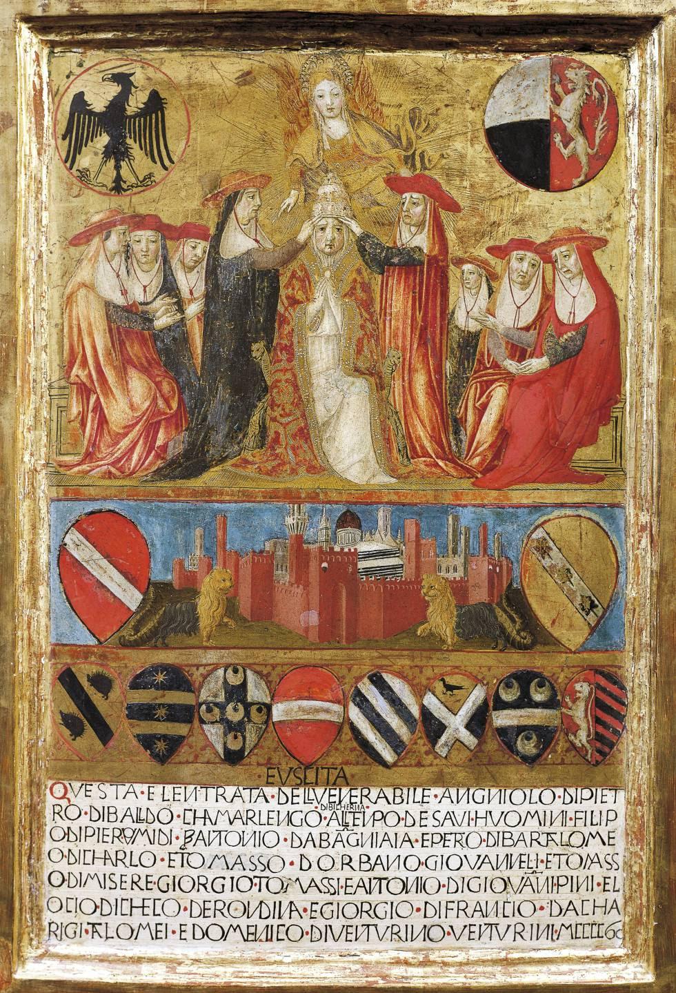 Coronación de Pío II en Siena.