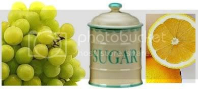 Ingredients for grape Jam