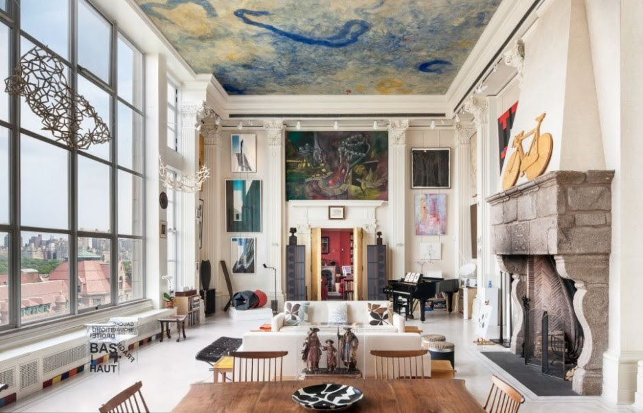 Interior Home: Artistic Architecture New York Loft With Blue ...