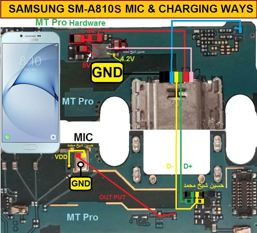 Samsung Galaxy A8 (2016) Mic Problem Jumper Solution Ways Microphone Not Working