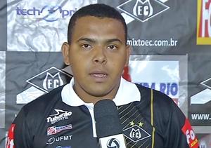 Evanildo dos Santos, técnico Mixto, Copa FMF 2015 (Foto: Reprodução/TVCA)