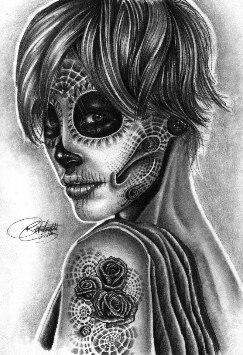 Day Of The Dead Girl Tattoo Design 8 Tattoos Book 65000 Tattoos