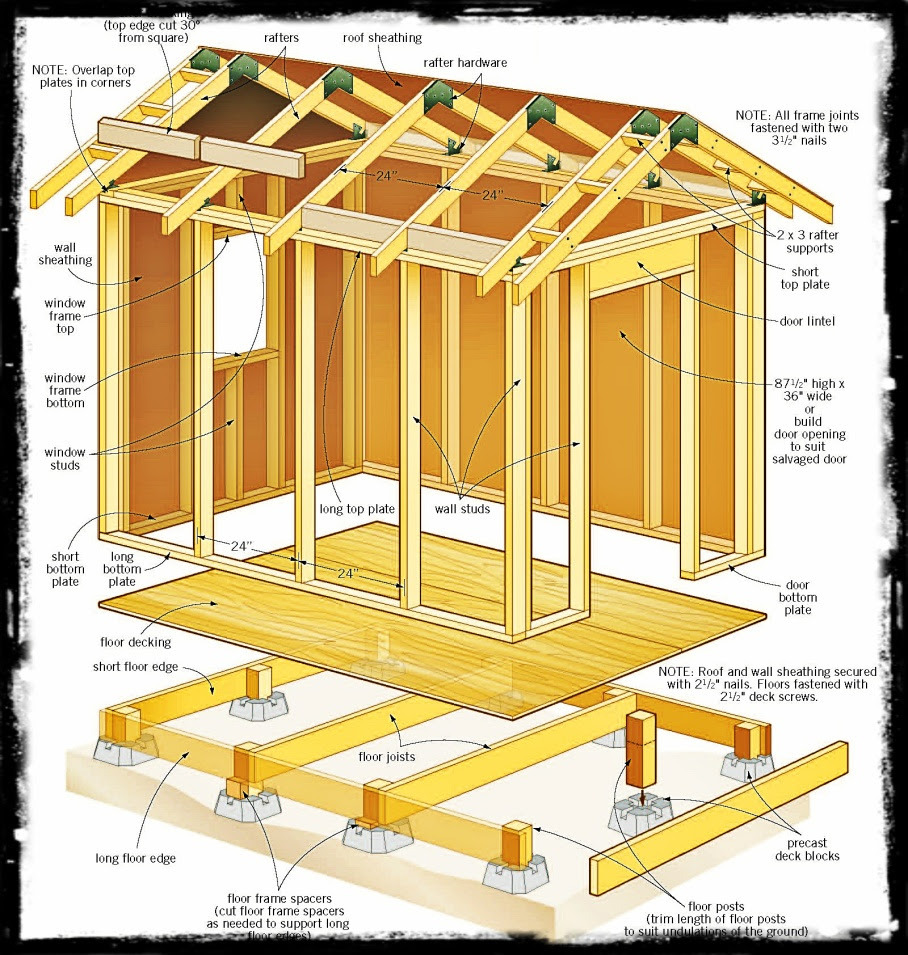 Plans For 8x12 Garden Shed Best Shed Plans