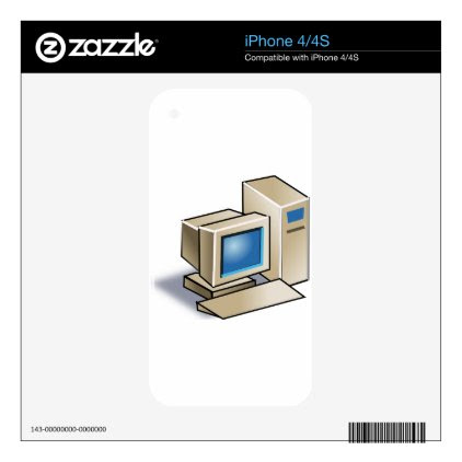 Retro Computer Decal For The iPhone 4S
