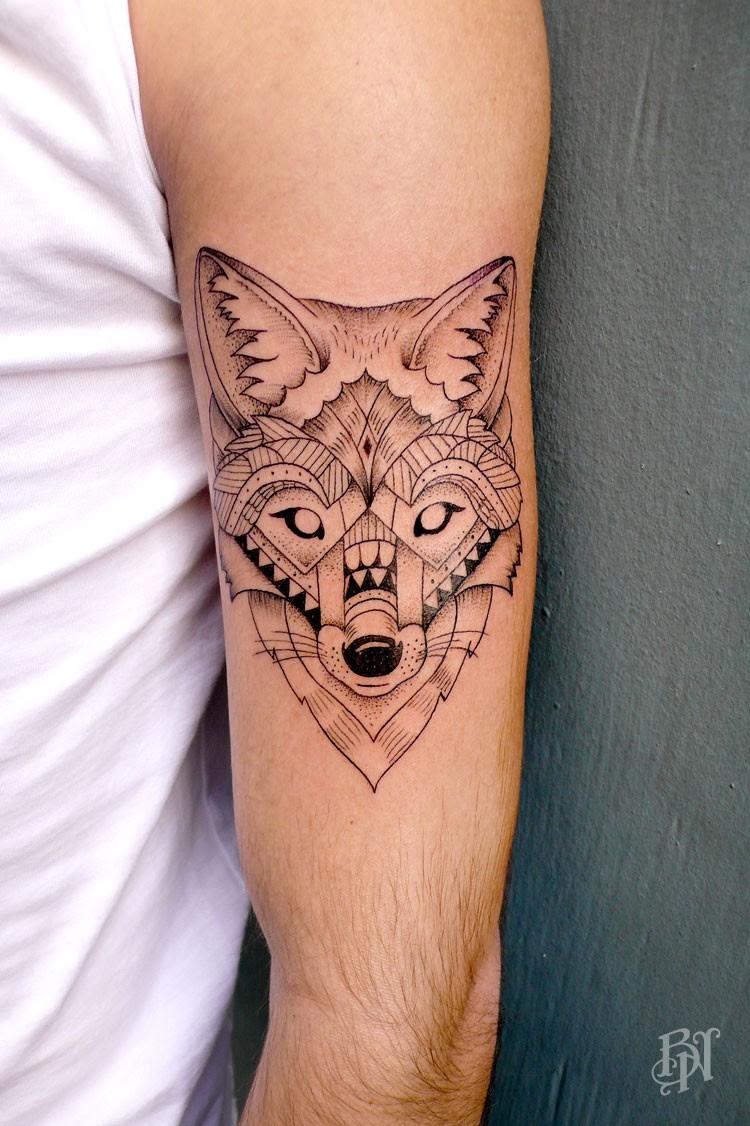 Geometric Tattoo Wolf Ideas Flawssy