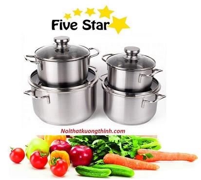 Bộ nồi Fivestar 4 chiếc và cách làm tăng tuổi thọ của nồi
