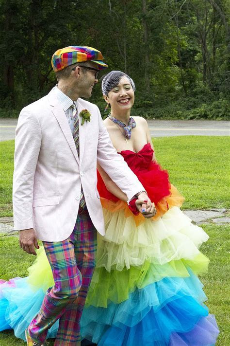 Queer rainbow wedding