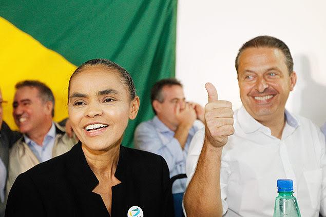 Marina Silva anuncia sua filiação partidária no PSB e fecha acordo político com o governador Eduardo Campos (PE), para a corrida presidencial de 2014