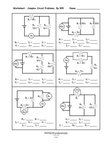27 Types Of Circuits Worksheet Answers - Worksheet ...