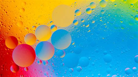 colourful bubbles  hd abstract wallpaper iphone
