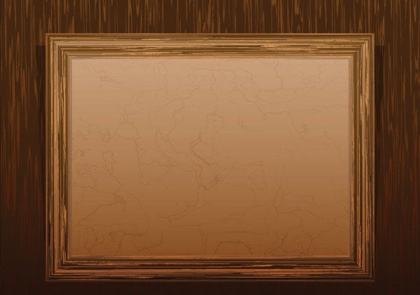 classic_wood_frame_02_vector_ ...
