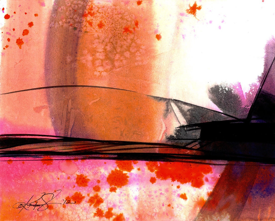 Abstraction Series . 310 ... Original abstract watercolor water media art ooak painting by Kathy Morton Stanion EBSQ - KathyMortonStanion