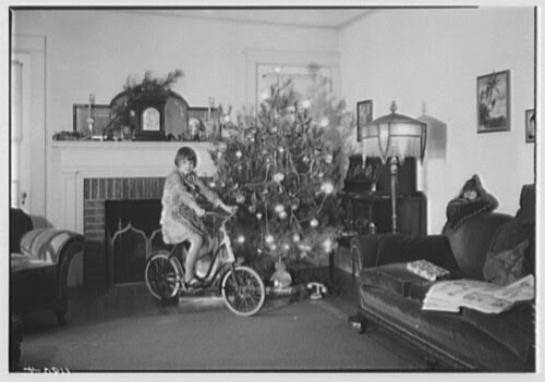 """""""Christmas of 1930"""" (with bike & tree)"""