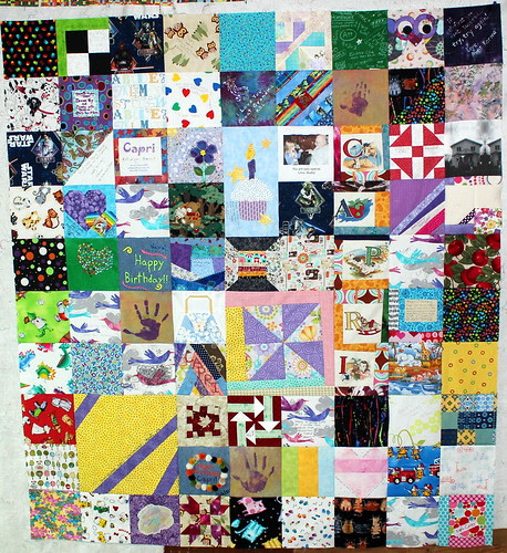 The Future Quilter's Quilt - All Pieced!