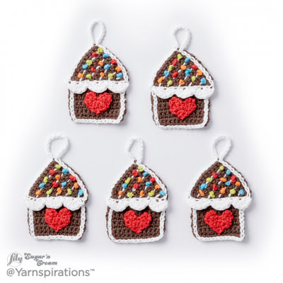 Gingerbread House Crochet Ornaments