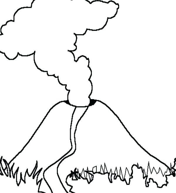 Volcan Dessin Facile Couleur Dessin Facile