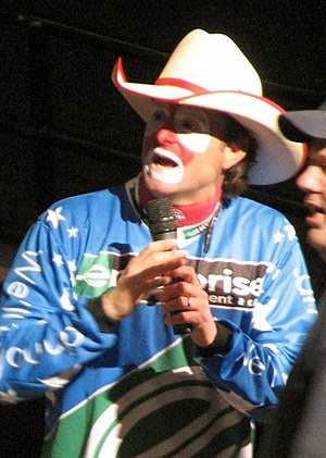 Rodeo clown Flint Rasmussen