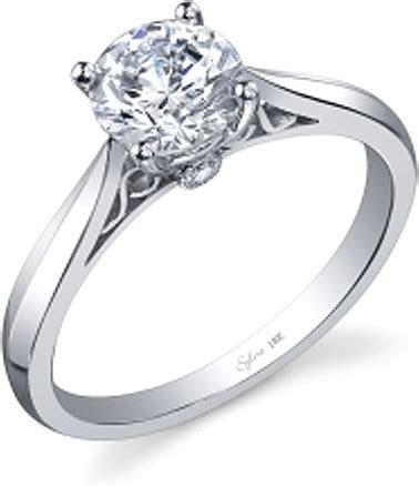 Sylvie Knife Edge Diamond Engagement Ring SY904
