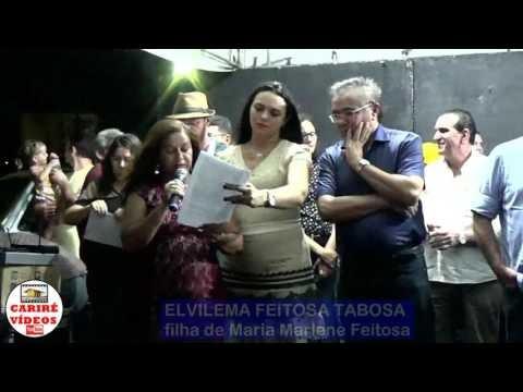 VÍDEO:Discurso de Elvilema Feitosa Tabosa, na inauguração da Escola Maria Marlene Feitosa, em Almas, Cariré-CE