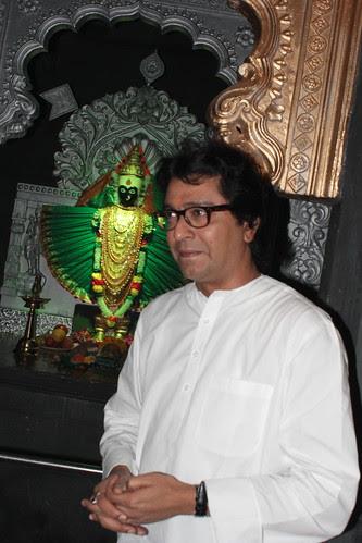 Mr Raj Thackeray At Advocate Ashish Shelars Ganesha Pandal by firoze shakir photographerno1