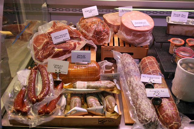 The charcuterie section at Dean & DeLuca