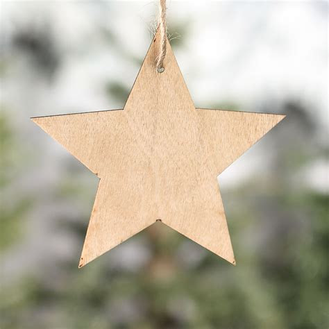 Unfinished Wood Star Laser Cut Ornaments   Wood Stars