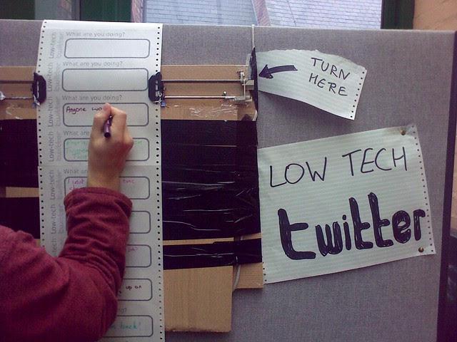 Low-tech Twitter