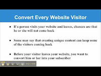 Converting Every Visitor into Subscriber