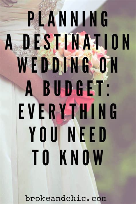 How to Plan A Destination Wedding on a BudgetBroke and Chic