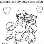 öğretmenler Günü Boyama Sayfaları Arabulokucom