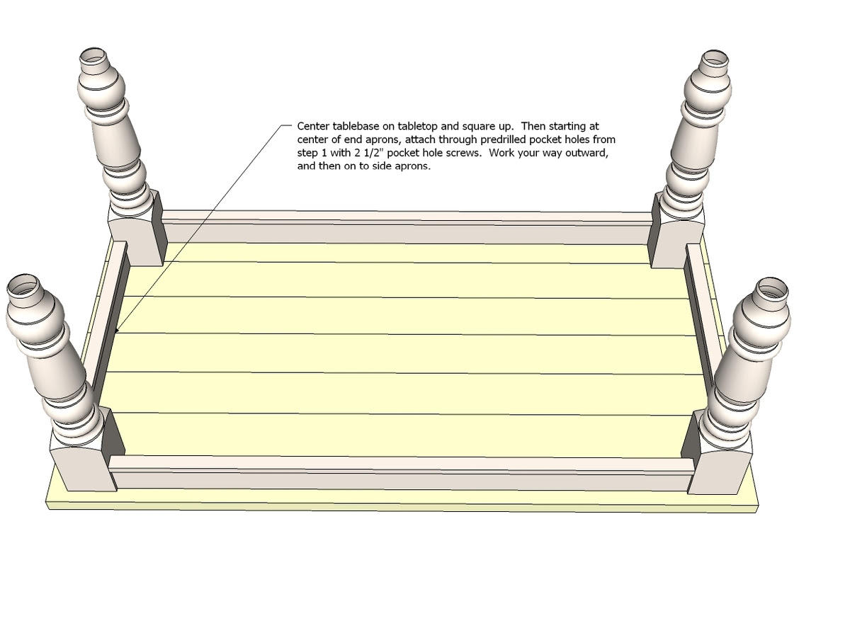 Ana White   Build a Husky Farmhouse Table   Free and Easy DIY ...