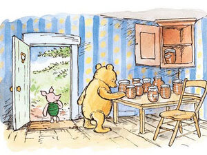 Winnie the Pooh A. A. Milne illustration