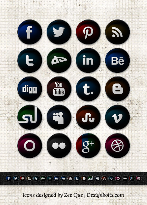 Free-Vector-Round-Black-Social-Network-icon-set-2012