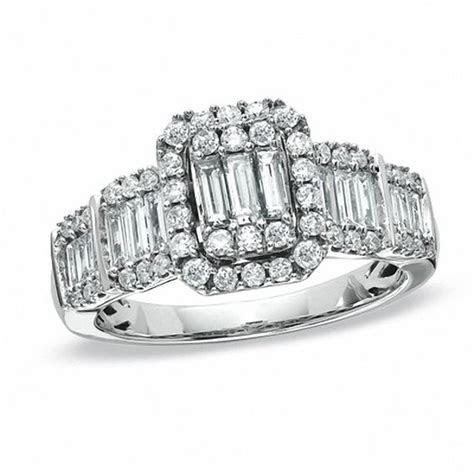 1.00 CT. T.W. Multi Baguette Diamond Five Stone Engagement