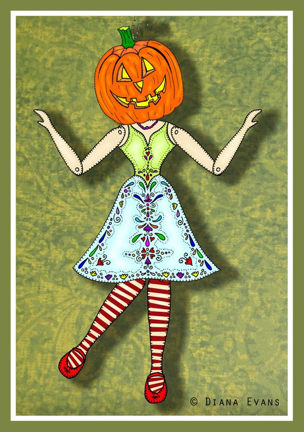 halloween striped sock lady