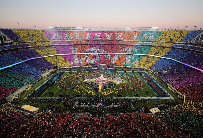 Mosaico show do intervalo super bowl 50 (Foto: Getty Images)