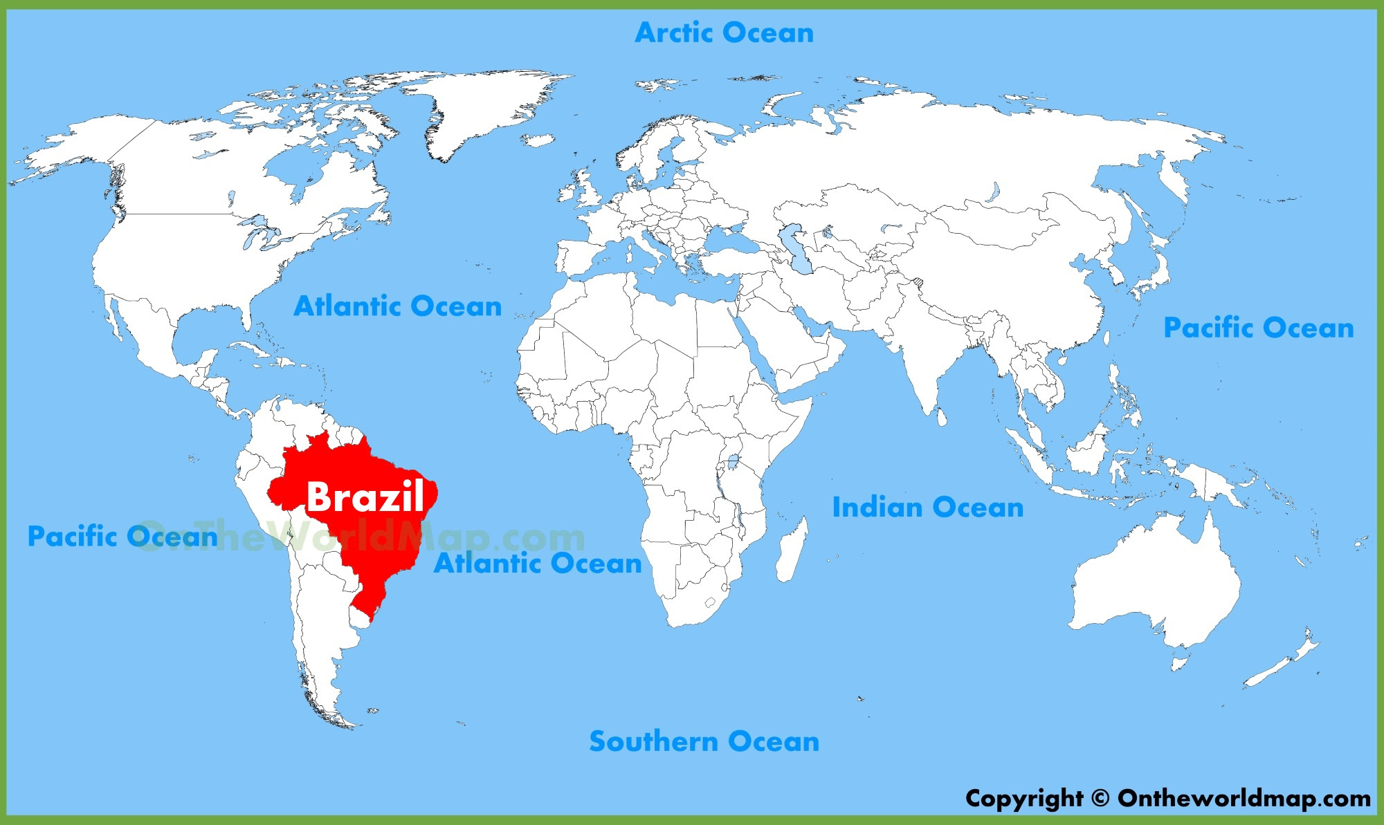 Where Is Brazil On The Map World Map Showing Brazil | World Map