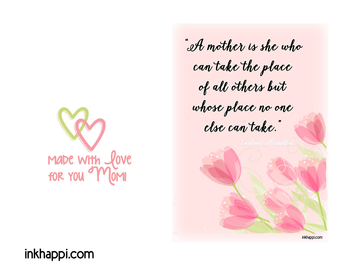 Mother I love You Mothers Day Quotes & Prints