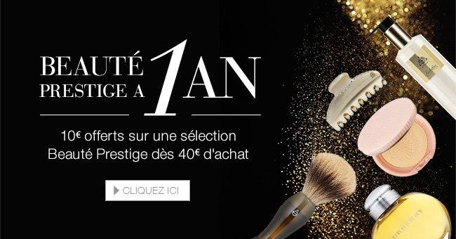 10 euros offerts dans la boutique Beauté Prestige
