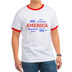 Celebrate America Men's Ringer T