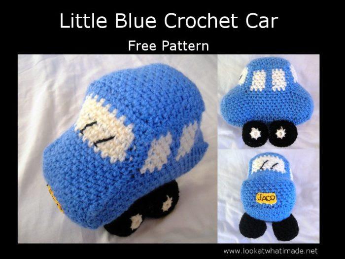 Little Blue Crochet Car FREE Little Blue Car Crochet Pattern