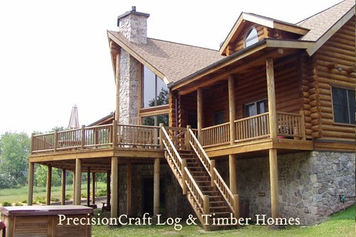 By precisioncraft log timber homes located in for Timber log home plans